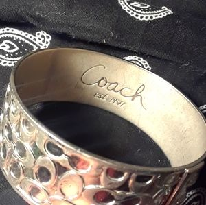 Coach eat 1941 silver bracelet